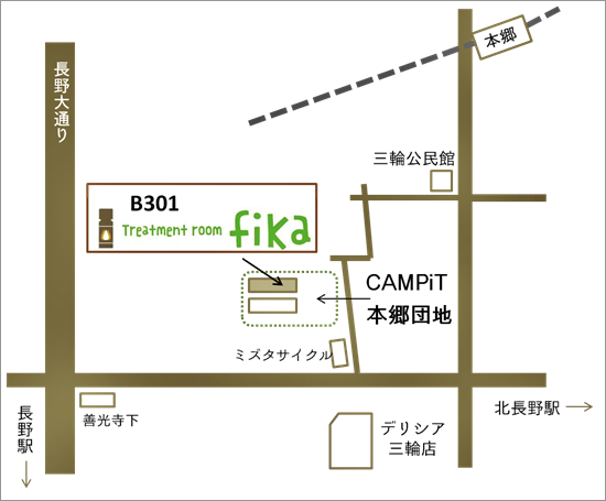 CAMPiT本郷MAP